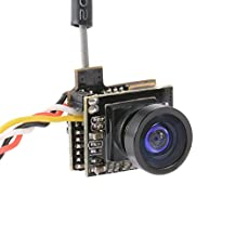 XCSOURCE 5.8G 48CH 25mW 800TVL FPV Transmitter AIO Camera Wide Angle with OSD for Micro RC Racing Drone RC604