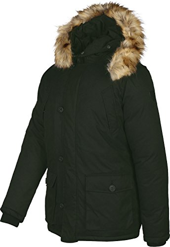 3400 Solid Black Black Rosin Jacket Parka Men's wXUqHOXgn