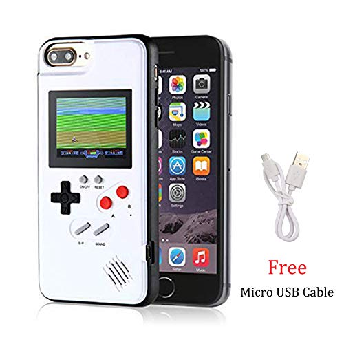 Gameboy Case for iPhone 6/6S/7/8, Chu9 Retro 3D Playable Gameboy Cover Case with 36 Classic Games, Handheld Color Screen Video Game Console Case for iPhone (White, iPhone 6/6S/7/8) (Iphone 5 Cases Gameboy)