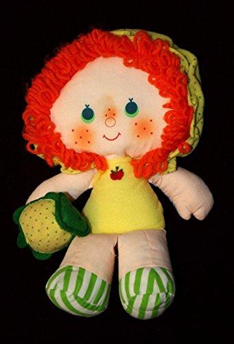 Vtg Apple Dumpling Dumplin Cloth Rag Doll Yarn Hair Strawberry - Clothes Strawberry Shortcake Doll