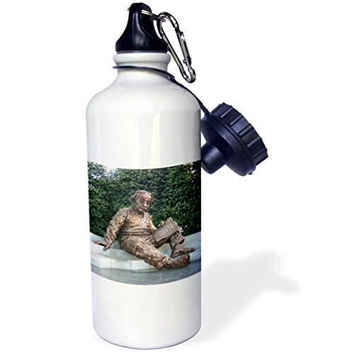 otography Washington DC - Albert Einstein Memorial - 21 oz Sports Water Bottle (wb_5014_1) ()
