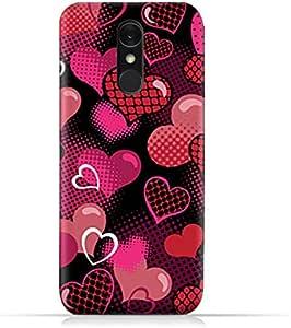 AMC Design LG Q7 TPU Silicone Protective case with Valentine Hearts Seamless Pattern Design