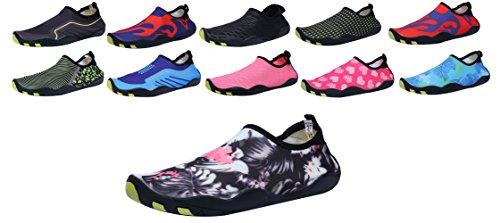 SAMI STUDIO Männer und Frauen Wasser Schuhe Leichte Durable Rolle Aqua Schuhe Geeignet Für Fahren Schwimmen Bootfahren Yoga Beach Surf Blume2