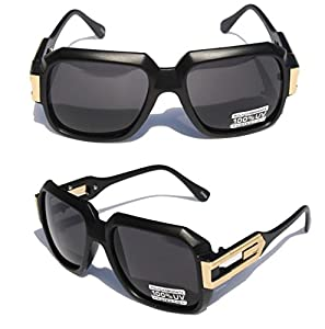 Square Cazal Gazelle Style SunGlasses Gold Metal Accents DMC - Multi Selection Matte Black/Gold