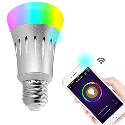 Wifi Led light bulbs ,Wallfire 7W E27 Wireless WiFi Remote Control ...