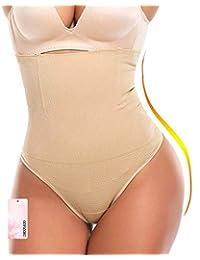 gofanmu Women High Waist Cincher Tummy Control Slimmer Thong Panty Shapewear