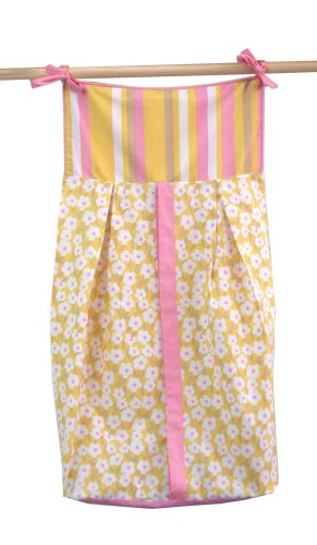 Tadpoles Field of Flowers Diaper Stacker in Yellow and Pink