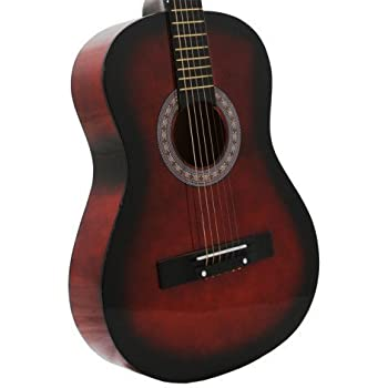 38 inch student beginner coffee acoustic guitar with carrying case accessories. Black Bedroom Furniture Sets. Home Design Ideas