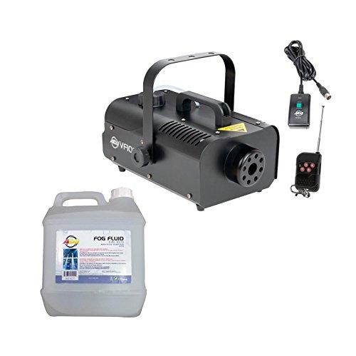 AMERICAN DJ VF1000 1000W 1 Liter Mobile Smoke Fog Machine w/Remotes + Fog Fluid ()