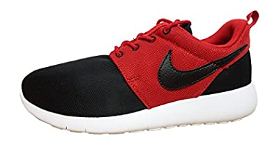 Nike Rosherun (GS) Trainers 599728 Sneakers Shoes (5.5 M US Big Kid, Black Gym red White 026)