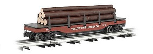 Uncoupling O-27 Track - Williams By Bachmann Yellow Pine Lumber Company O Scale Operating Log Dump Car