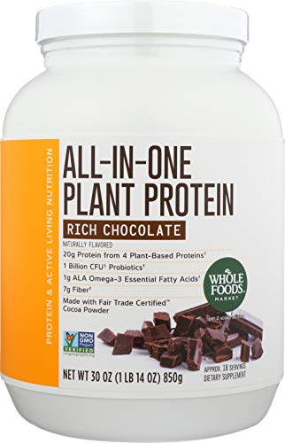 Whole Foods Market, All-In-One Plant Protein, Rich Chocolate, 30 oz