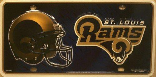 Louis Rams Metal - Smart Blonde St Louis Rams Metal Novelty License Plate LP-747