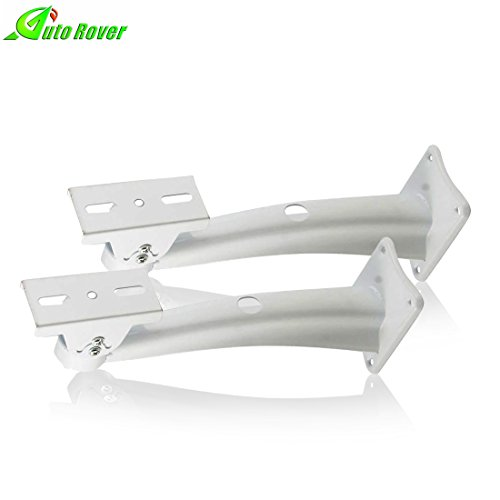 Wall Bracket Mounting Cctv (Camera Mounting Bracket,Auto Rover Universal Waterproof Alloy Rotary Bracket Wall Ceiling Mount Housing CCTV Security Surveillance Indoor Outdoor Camera Mounting Bracket,pack of 2(white))