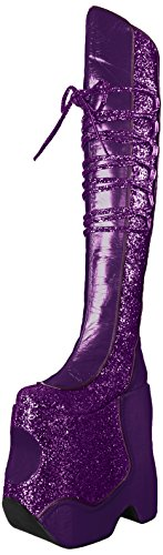 Patent Crinkle G Womens Violet gltr Pleaser Fabu3035 PP ywZ8qwBS
