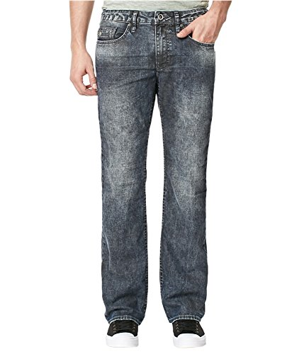 Buffalo David Bitton Mens Cotton Boot Cut Jeans Grey 42x32