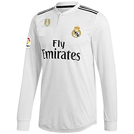 394c2485c GOLDEN FASHION Non Real Madrid Home KIT 2018-19 Full Sleeve Jersey with  Short with