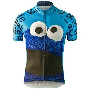 Cookie Monster Sesame Street Cycling Jersey (Men's) (2XL)