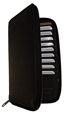 AG Wallets Genuine Leather Men's Long Zip Around Wallet