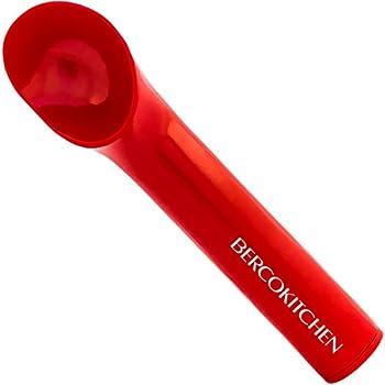 Ice Cream Scoop with Modern Heat-Conducting Aluminum Ergonomic Handle (Red)
