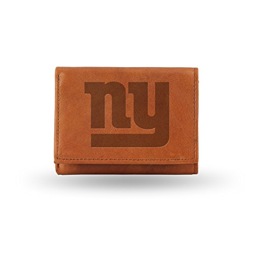 Giants Rico Tri Fold Wallet - NFL New York Giants Embossed Genuine Leather Trifold Wallet