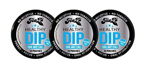 TeaZa Energy Smokeless Tobacco Alternative (3 Pack) Helps You Quit Chewing Tobacco Snuff – Nicotine Free Herbal Energy…