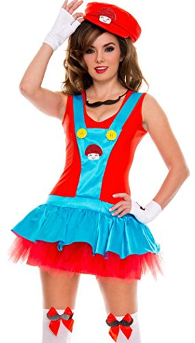 Booty Gal Women's Sexy Role Play Cosplay Queen Princess Costume Set (Mickey Mouse Costume Rental For Adults)