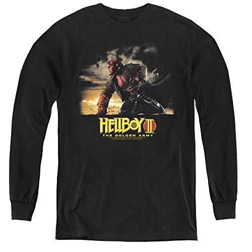 Hellboy Ii Youth Long Sleeve T Shirt, Medium Black