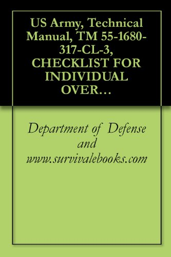 US Army, Technical Manual, TM 55-1680-317-CL-3, CHECKLIST FOR INDIVIDUAL OVERWATER SURVIVAL KIT, PART NO. 11-1-, (NSN 1680-00-973-1863), 1981 (Repair Individual Parts)