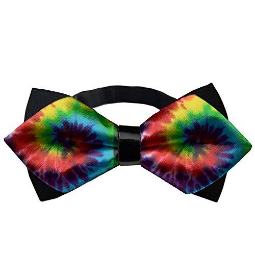 AMERICAN TANG Men's Adjustable tie dye Neck Bowtie Bow Tie Gift -