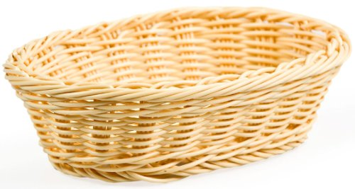 Displays2go Oblong Bread Baskets for Food Serving, Set of 12
