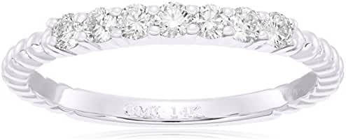 14k Gold Round-Cut Diamond Stackable Ring (1/3cttw, I-J Color, I1 Clarity)