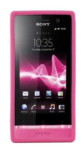 Sony Hard Rubber Clip-On Case Cover Xperia U by Made for Xperia - Pink