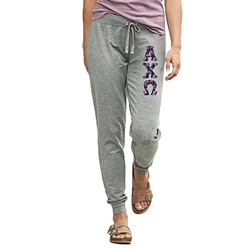 - Greekgear Alpha Chi Omega Omega Stretch Terry Sorority Pants X-Large Sports Grey