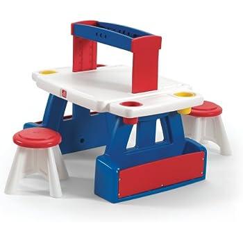Amazon Com Step2 Deluxe Art Master Kids Desk Assembles