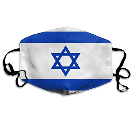 - Fghfgh4ghghf Flag of Israel Unisex Mouth Mask Adjustable Anti Dust Face Mask Reusable Comfy Breathable Safety Respirator for Cycling Camping Travel