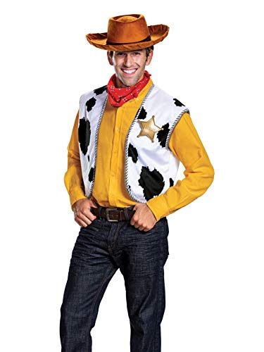Disguise Men's Woody Deluxe Adult Costume Kit, Multi, One Size