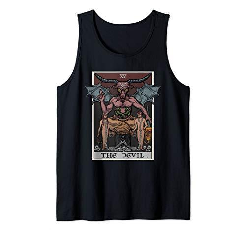 The Devil Tarot Card Shirt Satanic Witch Gift...
