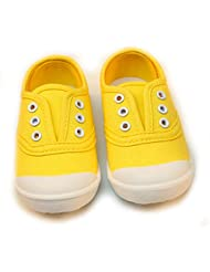 PPXID Boy's Girl's Canvas Slip-on Loafers Casual Shallow Sneakers