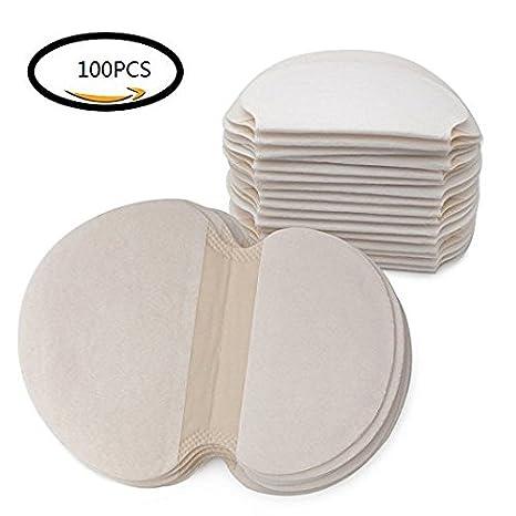 100 piezas Desechables almohadillas para el sudor de axilas protección contra el sudor y desodorante manchas