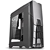 Gabinete ATX - Thermaltake Versa N25 (c/janela) - Led Azul - Preto - CA-1G2-00M1WN-04