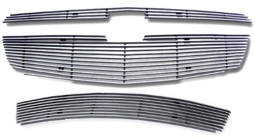 Billet Grille Package - MaxMate Fits 11-13 Chevy Cruze LTZ/LT RS package And Turbo Only 3PC Combo Horizontal Billet Polished Aluminum Grille Grill Insert