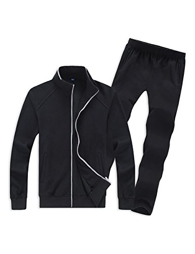 Gameyly Men's Simple Style Activewear Jogging Suits Running Tracksuit XL - Mens Style Running