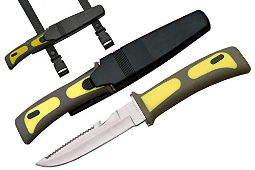 Diving Knife Yellow Handle - SZCO Supplies Diver's Knife (Yellow)