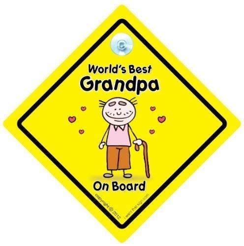 Personalised Child//Baby On Board Car Sign ~ Nanny /& Grandads Princes ~ L.Blue