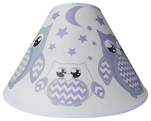 Purple Owl Lamp Shade/Children's Purple Owl Woodland Forest Animal Nursery Room Decor by Presto Lamp Shades