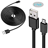 PS4 Controller Charging Cable 2 Pcs /10 ft USB Cord Dual Shock 4 Charger for Sony Playstation 4/ PS4 Slim/Pro / Xbox One S/X Controller, and Micro USB Device