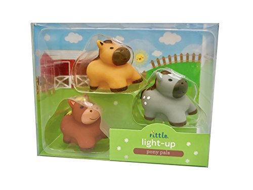 Rittle Pony Pals, Cute Floating Light-up Bath Toys (Set of -