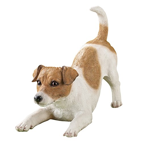(Collections Etc Jack Russell Terrier Playing Dog Breed Garden Statue)