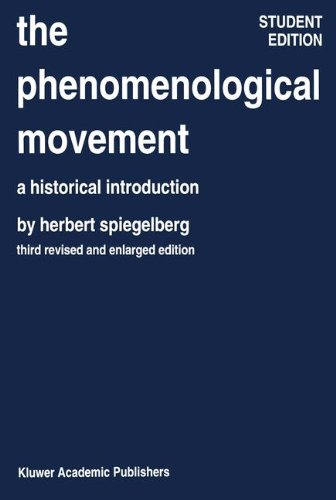 The Phenomenological Movement: A Historical Introduction (Phaenomenologica) (Phenomenological Movement)